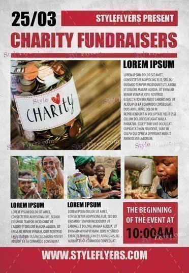 Charity Fundraisers PSD Flyer Template