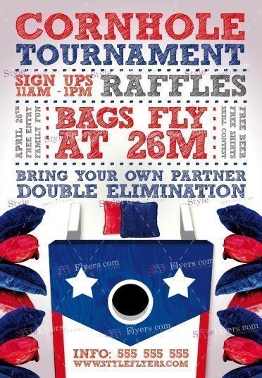 Cornhole_Tournament PSD Flyer Template