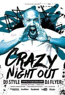 Crazy Night Out PSD Flyer Template