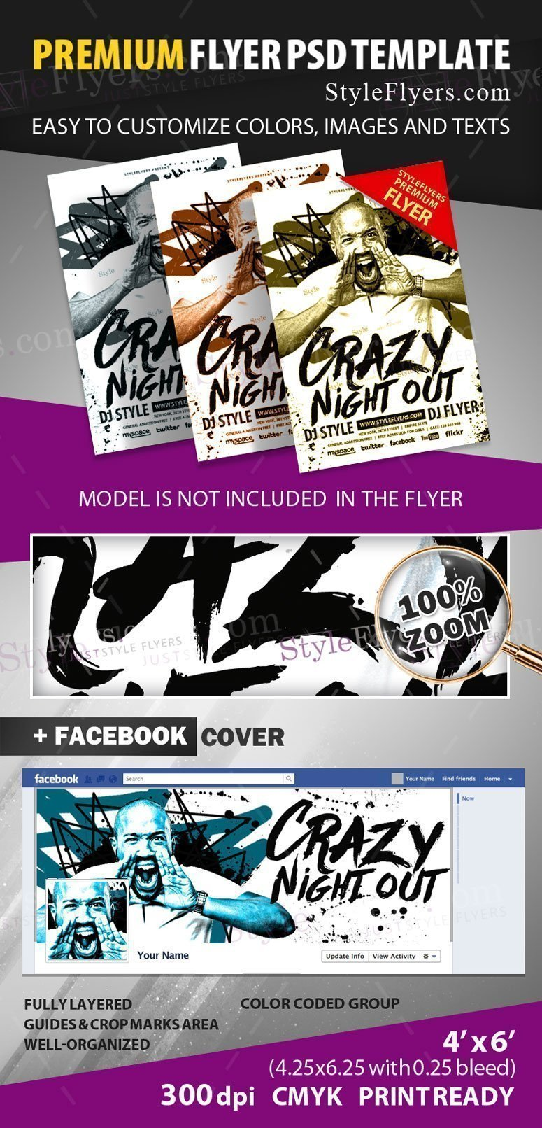 Crazy Night out Flyer preview_premium
