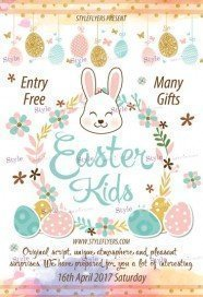 Easter Kids PSD Flyer Template