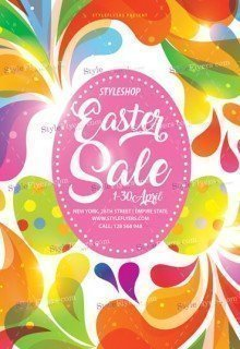 Easter Sale Flyer PSD Flyer Template