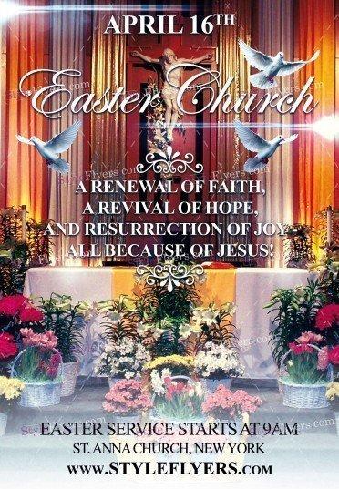 Eater Church PSD Flyer Template