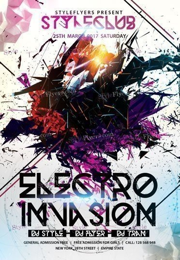 Electro Invasion PSD Flyer Template
