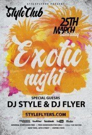 Exotic Night PSD Flyer Template
