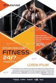 Fitness PSD Flyer Template_