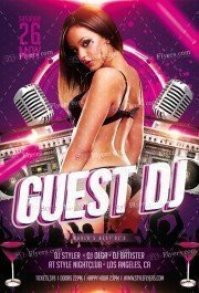 Guest DJ PSD Flyer Template