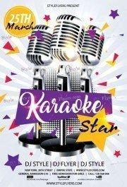 Karaoke Star PSD Flyer Template