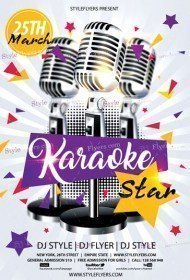 Karaoke Star PSD Flyer Template