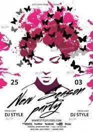 New Season Party PSD Flyer Template