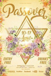 Passover PSD Flyer Template