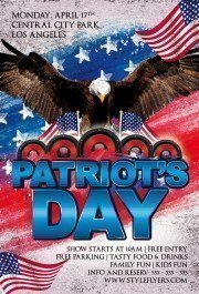 Patriots Day PSD Flyer Template
