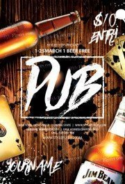 Pub PSD Flyer Template