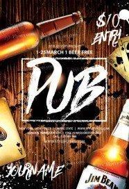 Pub PSD Flyer Template