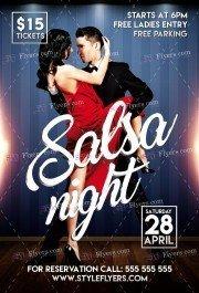 Salsa Night PSD Flyer Template