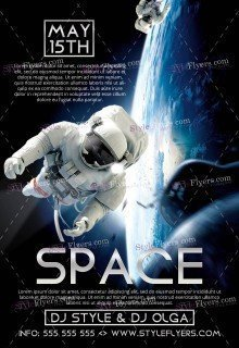 Space Poster PSD Flyer Template1