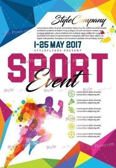 sport psd flyer template 17876 styleflyers
