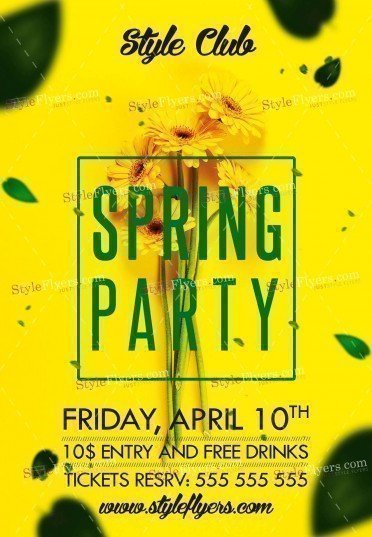 Spring Party PSD Flyer Template