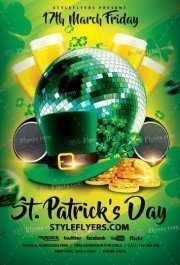 St Patricks Day PSD Flyer Template
