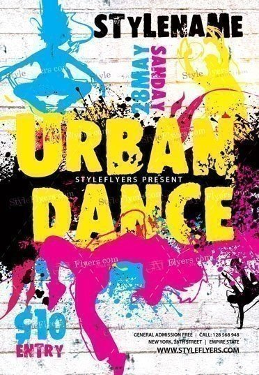 Urban Dance PSD Flyer Template