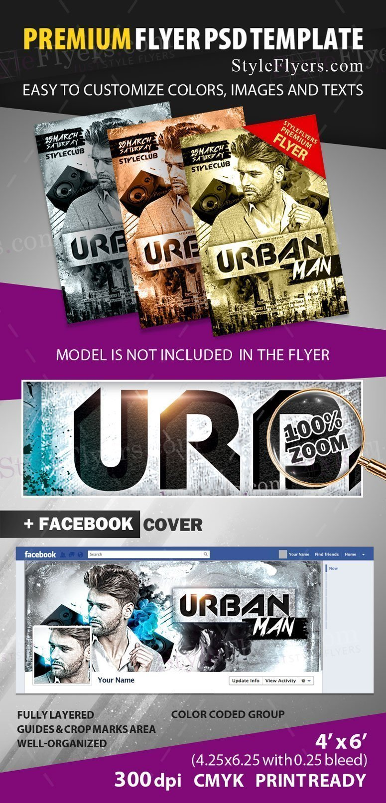 Urban Man Flyer preview_premium