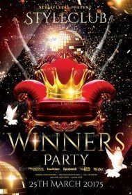 Winners Night PSD Flyer Template