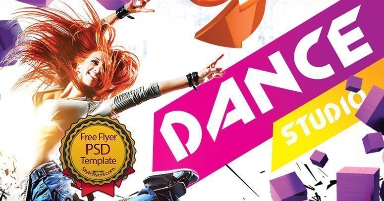 Dance Studio Free Psd Flyer Template Free Download 18296 Styleflyers