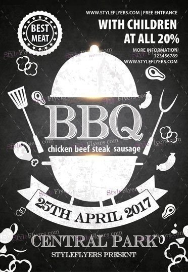 BBQ PSD Flyer Template