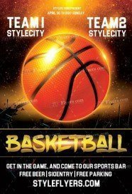 BasketBall PSD Flyer Template