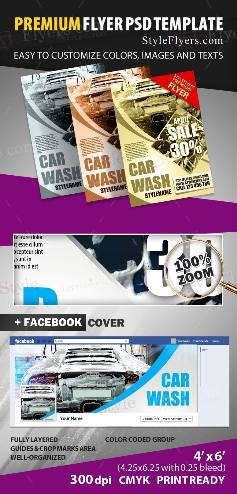 Car Wash PSD Flyer Template 18713 Styleflyers – Car Flyer Template