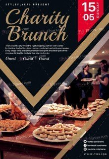 Charity Brunch PSD Flyer Template
