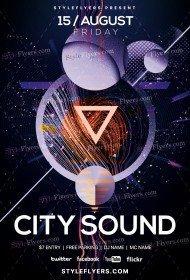 City Sound PSD Flyer Template