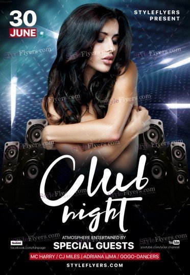 Club Night Psd Flyer Template   Styleflyers