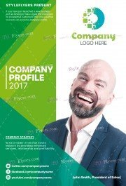 Company Profile PSD Flyer Template