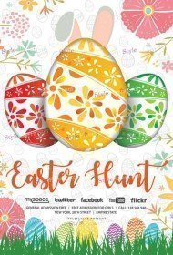Easter Hunt PSD Flyer Template