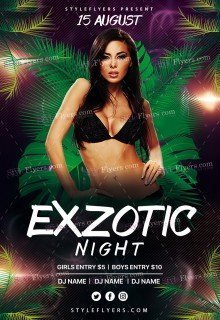 Exzotic Night PSD Flyer