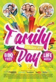 Family Day PSD Flyer Template