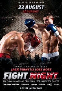 Fight Night PSD Flyer