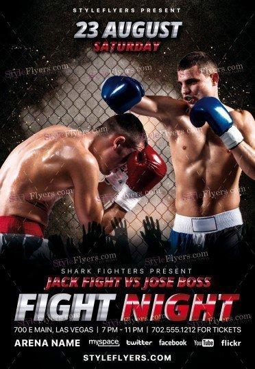 Fight Night PSD Flyer
