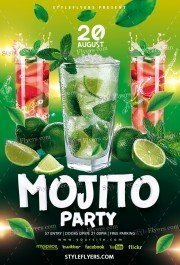 Mojito Party PSD Flyer