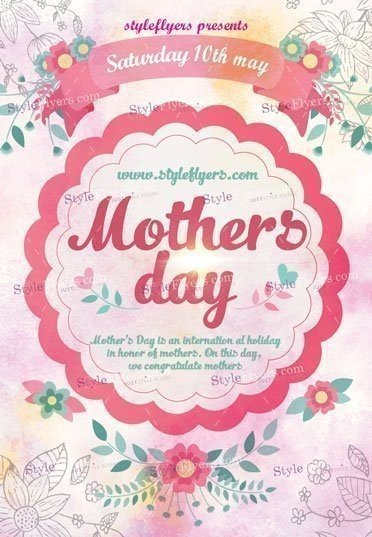Mothers Day Psd Flyer Template   Styleflyers