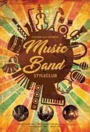 Music Band PSD Flyer Template