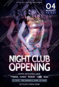 Night Club Oppening PSD Flyer Template