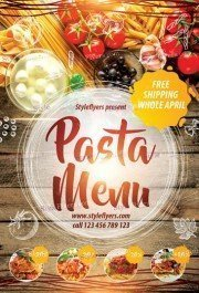 Pasta Menu PSD Flyer Template