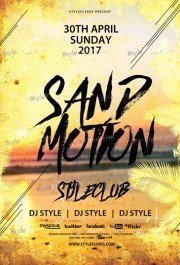 Sand Motion PSD Flyer Template