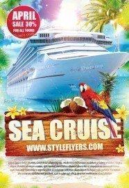 Sea Cruise PSD Flyer Template