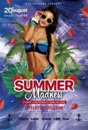 Summer-Madness PSD Flyer