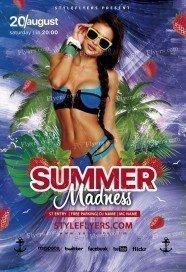 Summer-Madness PSD Flyer