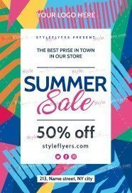 Summer-Sale PSD Flyer Template