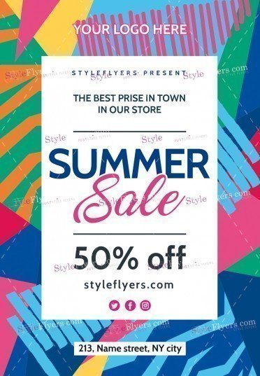 Summer Sale Psd Flyer Template   Styleflyers